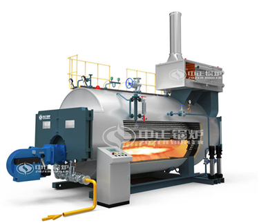 Fire tube condensing gas / oil boiler