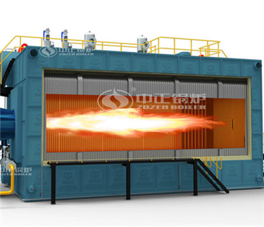 Water tube condensing gas/oil fired boiler